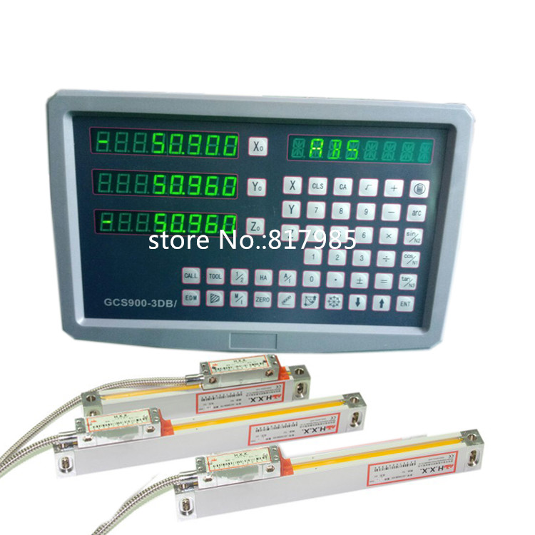 free shipping complete set milling/ lathe/ drill machine dro digital readout with 3 pcs linear scales|digital readout|dro digital readout|readout digital - title=