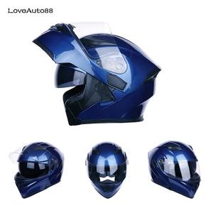 Image 1 - Полный мотоциклетный шлем профессиональный гоночный шлем мотоциклетный взрослый Кроссовый внедорожный шлем унисекс доступный в горошек одобренный