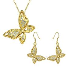 S045-A Fashion environmental alloy anti allergy zircon jewelry set