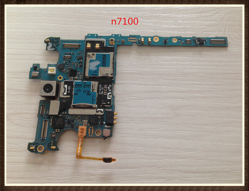 100%Working~Unlock Google Good quality Original Motherboard 16GB For Galaxy Note 2 n7100 Clean IMEI free shipping