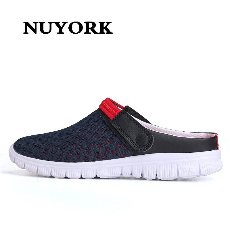 Nuyork New tongs femme ete  slip on shoes for women flat sandals croc Hollow Beach Shoes Leisure Mesh woman sandals summer odetina 2017 new woman slingback flats hollow out slip on flat shoes flower half slippers mules d ete pour femme plus size 32 43