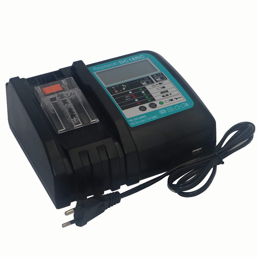 7.2V-18V Power Tool Li-Ion Battery LCD Screen Charger for Makita 7.2V to 18V BL1830 BL1815 BL1430 DC14SA DC18SC DC18RC DC18RA charger for makita li ion battery bl1830 bl1430 dc18rc dc18ra dc18rct 100 240v 50 60hz