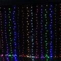 Alta Qualidade 3 M x 3 M 300 Cortina de LED Luz Fada String Xmas Do Casamento Do Natal