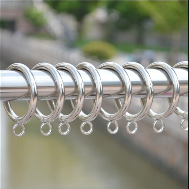 Curtains Ideas curtain rod and rings : 45*45 mm Curtain Hook Roman Rings 100% Metal Curtain Rod Hook ...