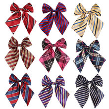 Striped Ladies Bowtie Classic Shirts Bow Tie For Women Business Wedding Bowknot Plaid Bow Ties Butterfly Girls Suits Bowties(China)
