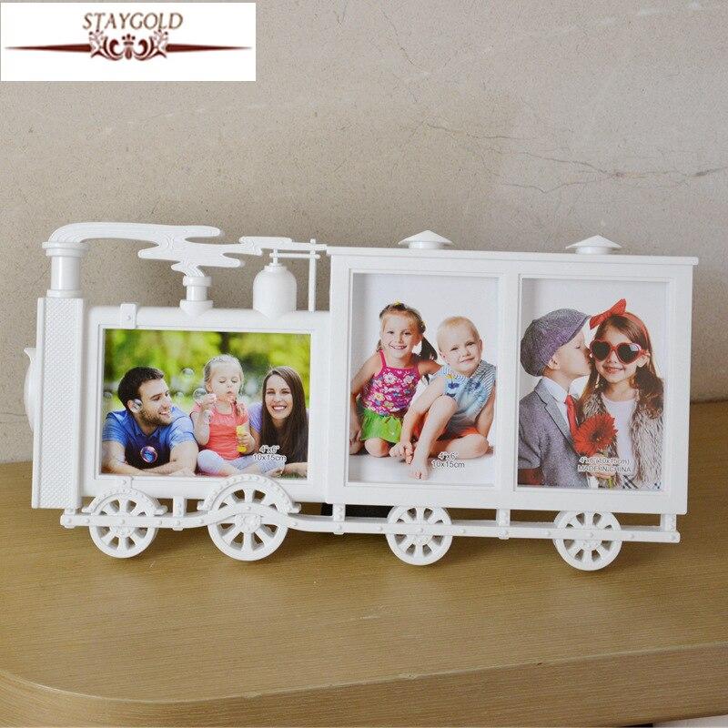 Kreative Kleine Lokomotive Form Kinder Bilderrahmen Wohnkultur 6 ...