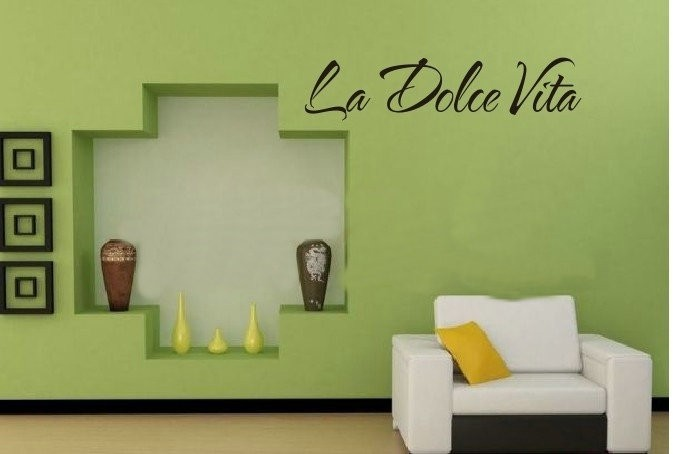 Slaapkamer Muur Quotes : & la dolce vita italiaanse quotes muurstickers kinderkamer