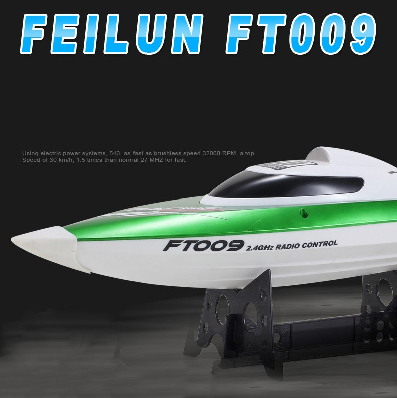 Rc boat 30km h FT009 2 4G 4CH Water Cooling System Self righting High Speed Racing
