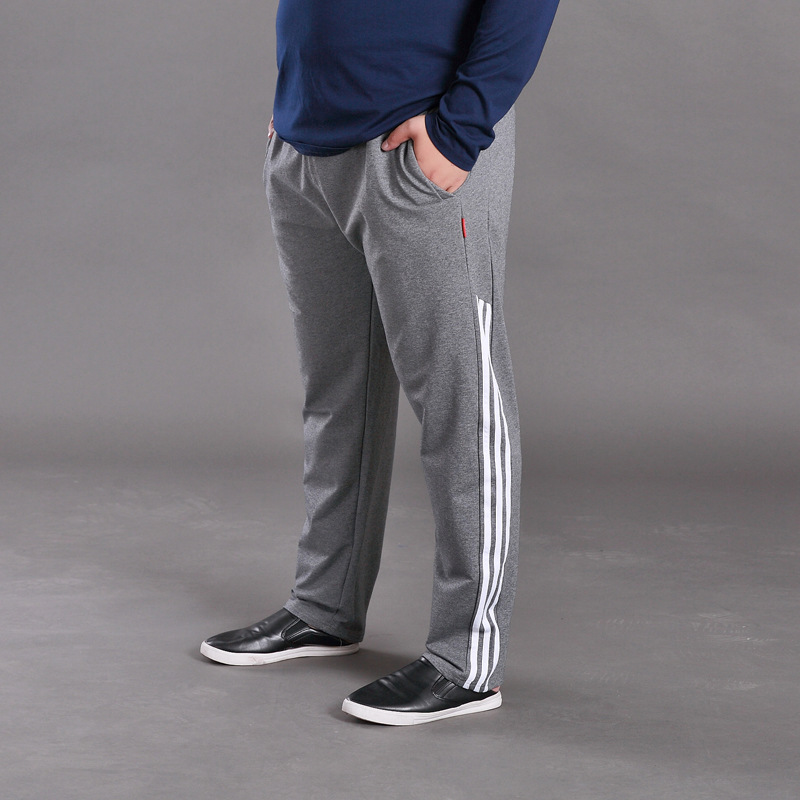 Super Loose Men Casual Pants Brand Straight Trousers Plus Size 7XL Elastic Waist Baggy Jogger Sweatpants Side Stripe Track Pants