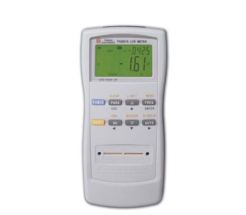 TH2821A inductance Capacitance 10kHz handheld LCR RCL LC Meter lcr handheld 10khz digital bridge portable resistance inductance capacitance meter lq 9101 parallel pocket meter