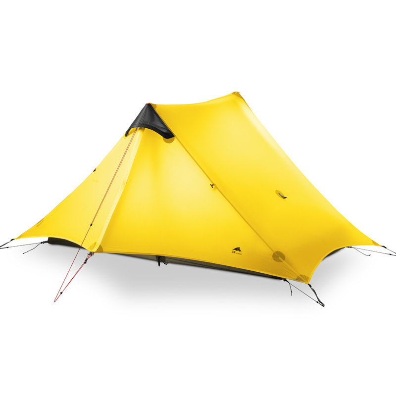 3F UL GEAR 2 People Oudoor Ultralight Camping Tent 3 Season 1 Single Person Professional 15D Nylon Silicon Coating Rodless Tent 3f ul gear 2 person 4 season ultralight professional silicone coated anti rain anti wind camping tent 15d