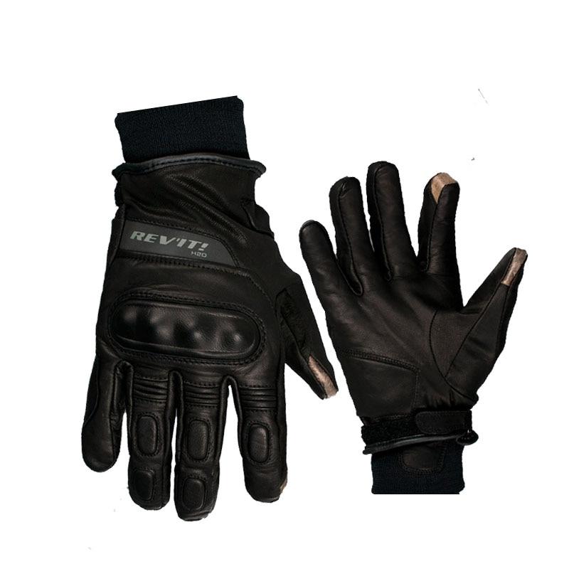 Revit boxxer h2o moto guanti in vera pelle, touch screen impermeabile moto moto guanti moto motocross motos