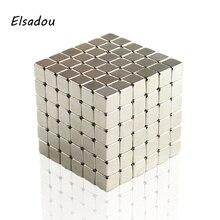 Elsadou 5mm 216 pcs Magnetic Fidget Cube Ed Puzzle Game Magnetic Square Cubes Toy Children Adults