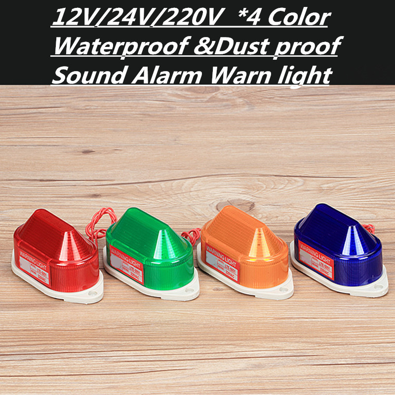 24V 12V 220V LED Flash buzzer Strobe Light Industrial Signal Indicating Emergency Alarm Warning Lamp Yellow LTE-5051