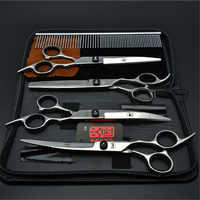 Suit 6 0 17 5cm Stainless Kasho Black Screw Styling Tool Cutting Shears Thinning Scissors Animal