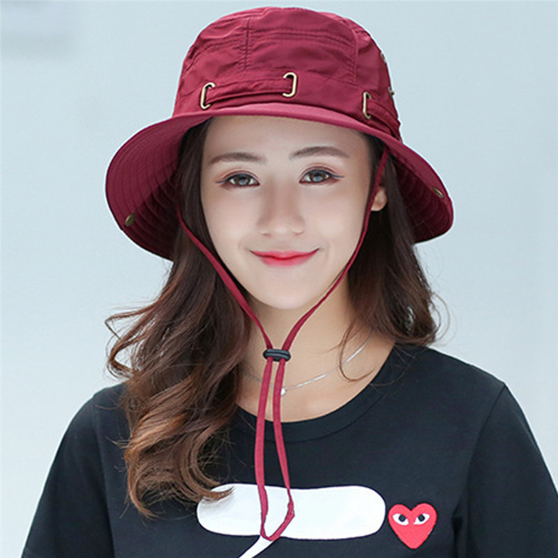 Outdoor hiking hat ladies summer fisherman hat visor sun hat youth outdoor sun protection sun hat big along hat(China)