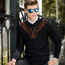 Mens Sweaters Autumn And Winter Casual knitwear Male Pullovers Classic Men's Sweaters cotton wings jacquard Sweater