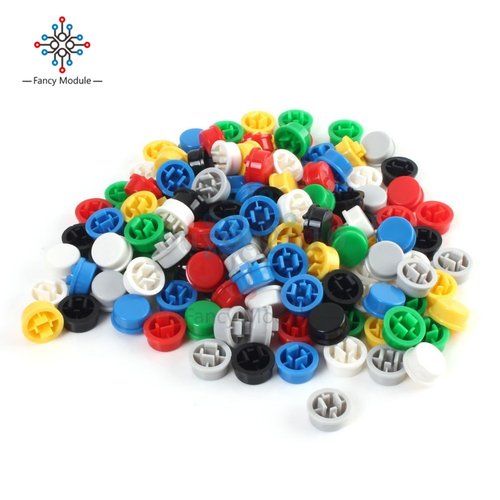 140Pcs Round Tactile Button Caps Kits 9.58*5.1mm for 12*12*7.3mm Micro Tact Switch For Arduino цена