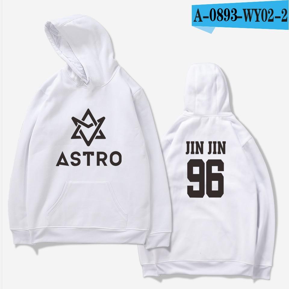LUCKYFRIDAYF 2018 ASTRO Kpop Hoodies Moletom STAR Group Spring Women/Men Harajuku Sweatshirt Casual Hoodie Men/Women Clothing 14