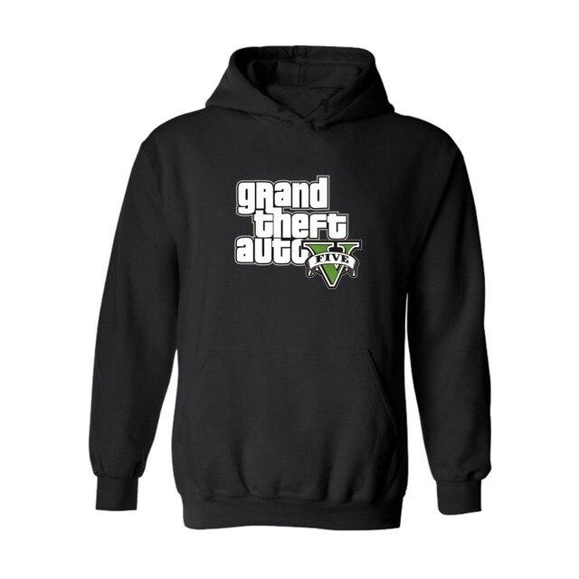 Смешно GTA 5 Капюшоном С Длинным Толстовка Мужчины Хип-Хоп в ГТА5 Grand Theft Auto Новый Бренд Толстовка Мужчины Толстовки Моды для Твердых пары