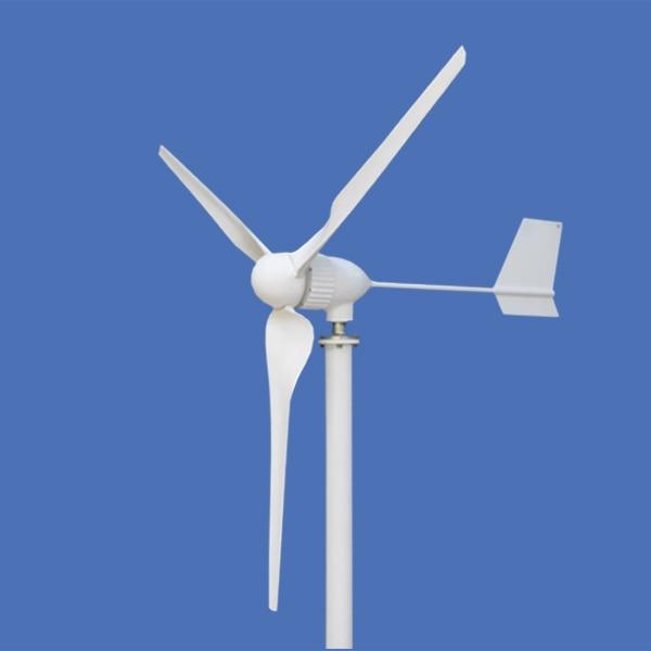 Vente chaude 1kw ac triphasé sortie éolienne générateur 1000w maison éolienne avec 3 lames