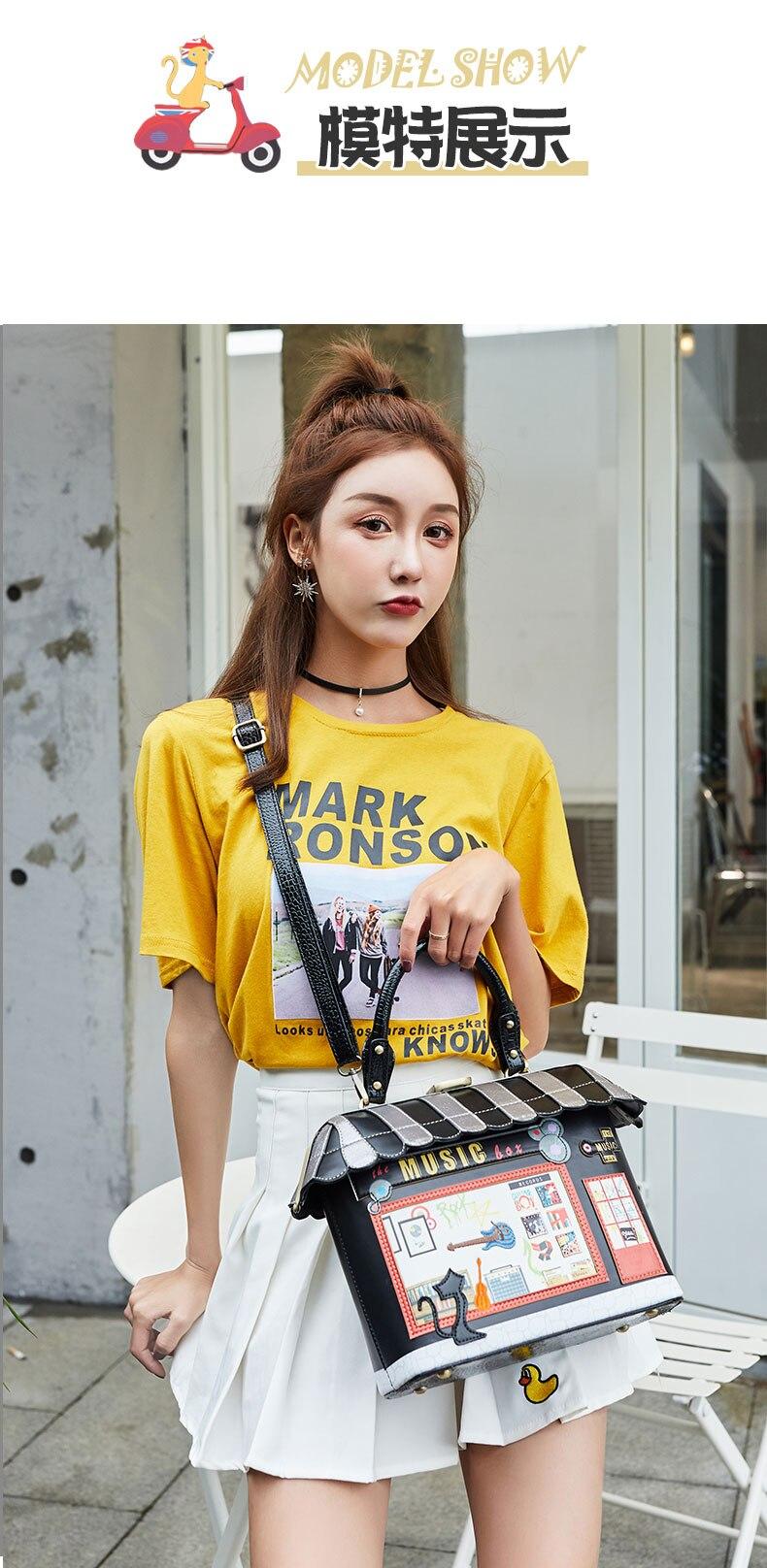 britânico novidade marca designer personalidade mensageiro sacos góticos artesanal saco