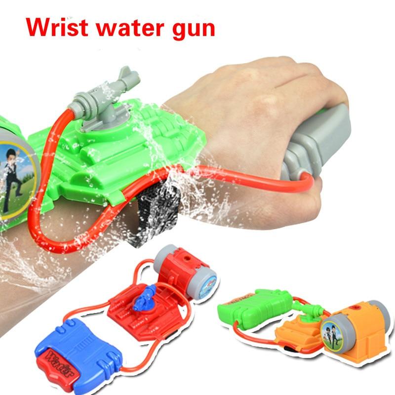 4M Range Wrist Water Gun Plastic Swimming Pool Beach Outdoor Shooter Toy Fireman Water Gun Toys For Children