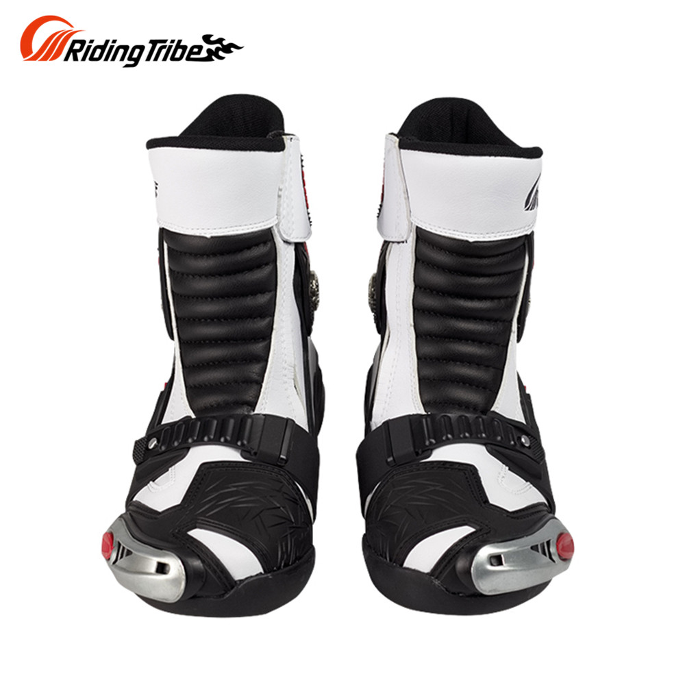 Riding Tribe Riding Motorcycle Road Cycling Racing Shoe Boots Long Riding Boots Men Locomotive Boots Shoes Speeding Boots White куртка для мотоциклистов riding tribe