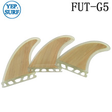 Surf Fins Quilhas Future G5 Clear Bamboo Free Shipping FUT Fin M Size Surfboard