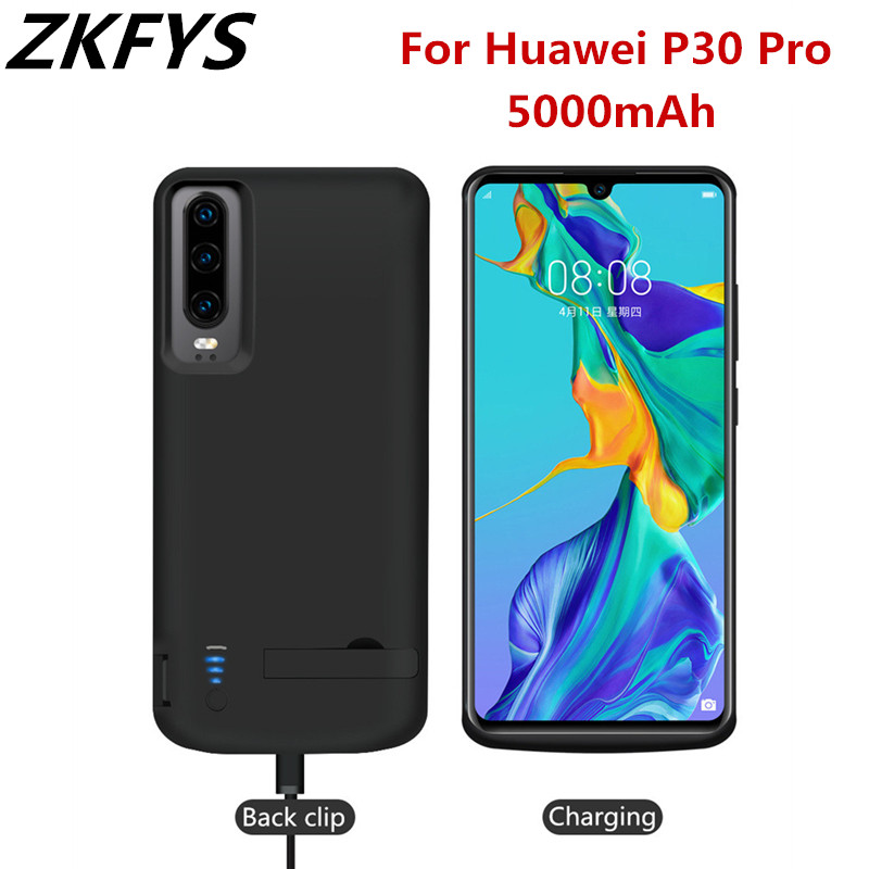 ZKFYS 5000mAh Powerbank Case For Huawei P30 Pro Battery Case Backup Fast Charging Power Bank Case External Battery Charger Cover
