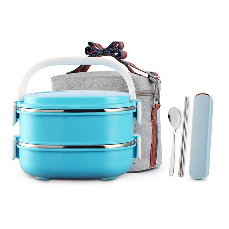 Excellent Stainless Steel font b Lunch b font Box Japanese Style Portable Thermal Thermos Bento Boxs