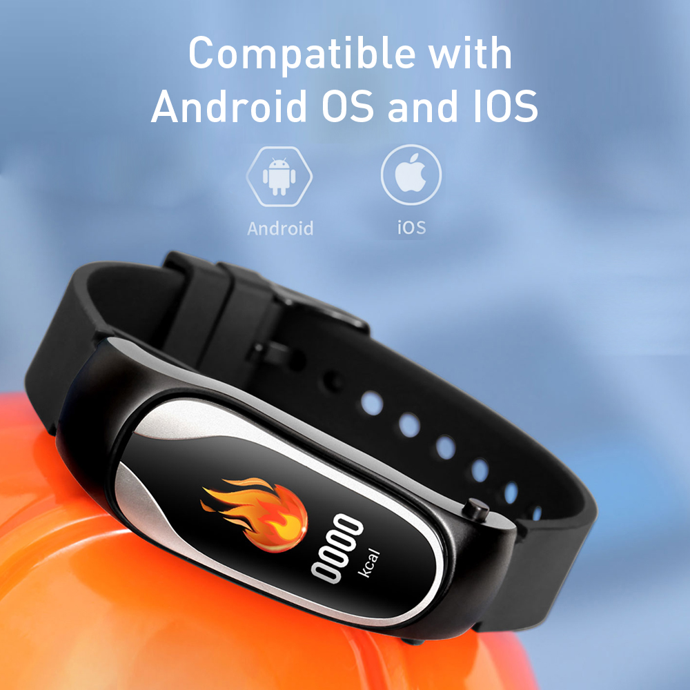 Unterhaltungselektronik Kr04 Smart Sprechen Band Bluetooth Headset Armband Herz Rate Überwachung Ip67 Wasserdichte Fitness Tracker Smart Armband Modernes Design