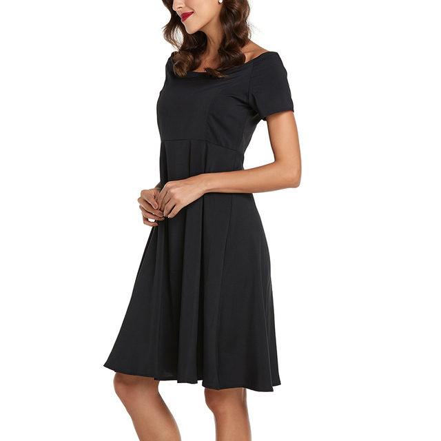 47a8483580 Vintage Plaża Sukienka Midi Kobiety Off Shoulder Lato Boho Suknie Casual  Średniowieczny Wiktoriańskim Rockabilly Wieczorne Party