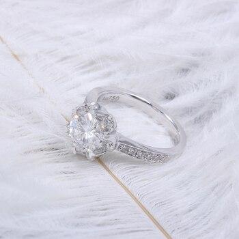 1.4 CTW Carat F Color Lab  Moissanite Diamond Engagement Ring  5