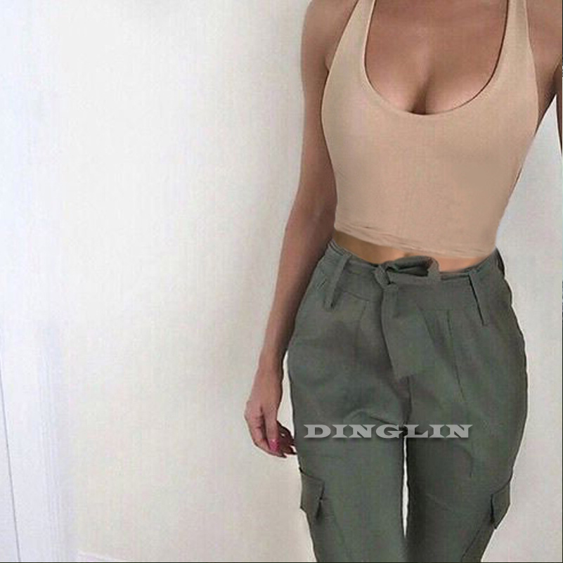 GZDL Casual Hot Women Stylish Summer Slim Vest Tank Tops Sleeveless Solid Fitness Skinny Fashion Womens Crop Top CL3640