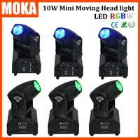 6Pcs Lot LED Mini Moving Head 10W RGBW LED China Moving Heads 10w Moving Head