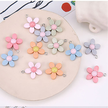 simple korean girl cute fresh flower resin pendant earrings for women material fashion diy handmade ear jewelry accessories
