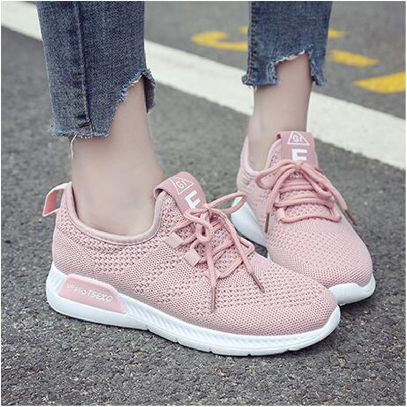 Women Casual Shoes 2018 Spring Summer Mesh Shoes Woman Flats Fashion Lace-Up White Black Pink Breathable Women SneakersWomen Casual Shoes 2018 Spring Summer Mesh Shoes Woman Flats Fashion Lace-Up White Black Pink Breathable Women Sneakers