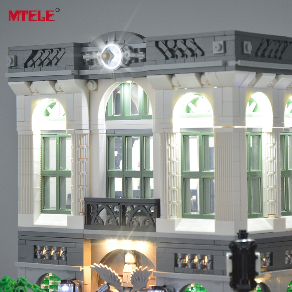 MTELE LED Light Up Kit Untuk Pencipta Bata Green Bank Light Set - Mainan bangunan dan konstruksi - Foto 4