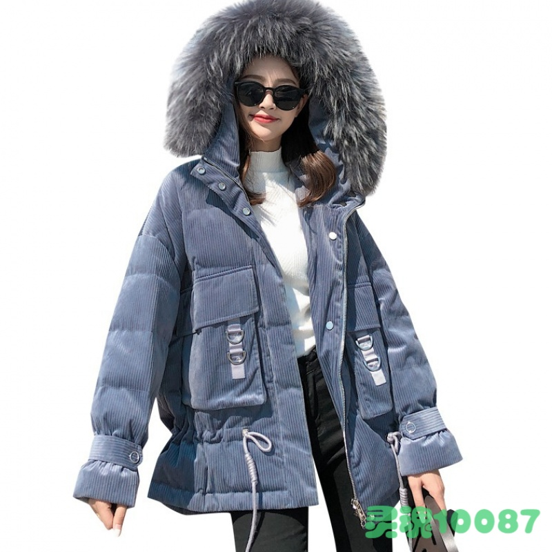 High-quality velvet fabric hooded thicker   down   jacket female luxurious fake fur hooded was thin thicker warm   down     coats   wq669