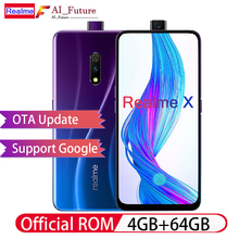 Мобильный телефон OPPO Realme X 4G LTE 4 Гб 64 Гб Snapdragon 710 6,53 «AMOLED 3765 мАч 48MP отпечаток пальца VOOC3.0 тип-c разблокированный смартфон