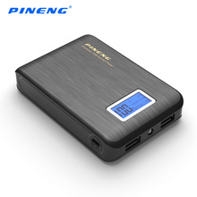 PINENG Power Bank 10000mah For Xiaomi mi Mini LCD Display External Battery Portable Mobile Phone Charger Fast Dual USB Powerbank