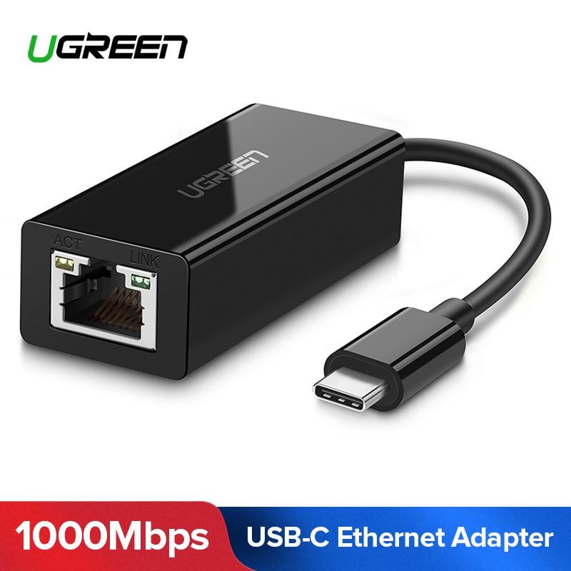 Ugreen USB-C a Ethernet USB-C a RJ45 Lan adaptador para MacBook Pro Samsung Galaxy S9/S8/nota 9 tipo C tarjeta de red Ethernet USB