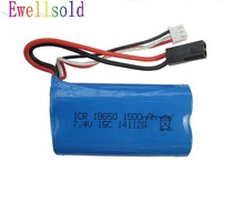 Ewellsold  T40 F39 F49 T39 822 RC helicopter spare parts 7.4V 1500mah Li-ion battery  Free shipping