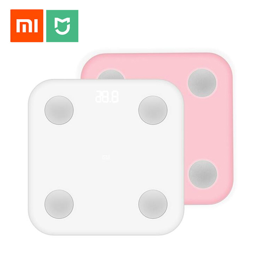 Original Xiao mi mi Smart Körper Fett Skala 2 mi fit APP & Körper Zusammensetzung Monitor Mit Versteckte Led-anzeige und Große Füße Pad