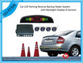 Car Numeral And Color LED Display Parking Reverse Backup Radar System With 4 Sensors 7 colors Free Shipping High Quality!