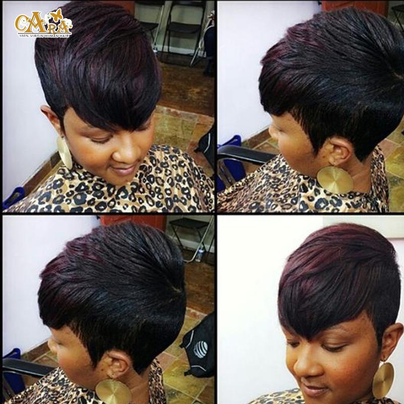 Groovy Aliexpress Com Buy Brazilian Virgin Human Hair 27 Pieces Short Short Hairstyles For Black Women Fulllsitofus