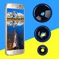 2016 Nuevo Ojo de Pez Gran Angular Macro Lente Telefoto 4 en 1 de la lente del teléfono para apple iphone redmi note meizu huawei uno Plus