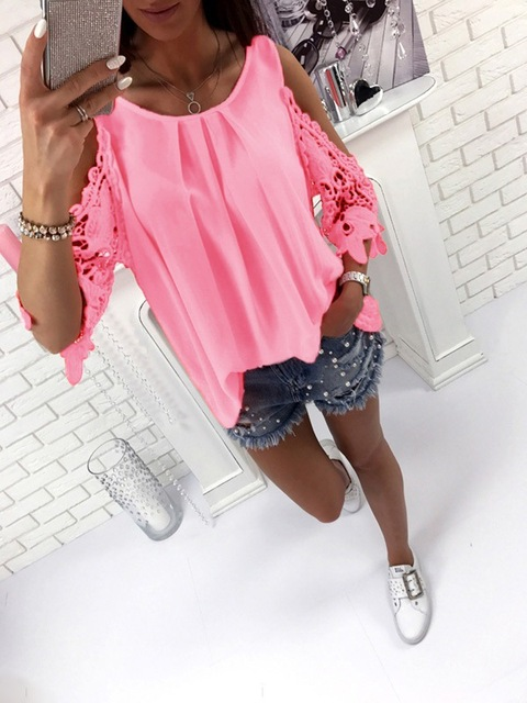 Off Shoulder Sleeve Boho Top Blouse
