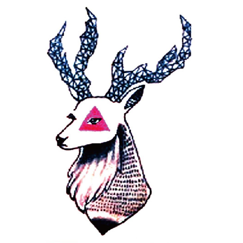 Yeeech Temporary Tattoos Sticker for Men Women Fake Reindeer Animal Design Large Arm Leg Body Art Waterproof Long Lasting Makeup